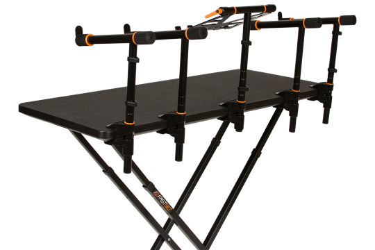 Master DJ Table with 2 tier arms and laptop stand