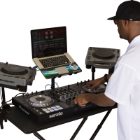 Fastset table with master dj and gear