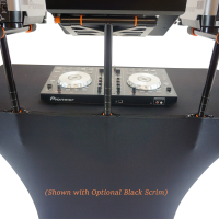 Fastset dj table with two tier arms and laptop stand
