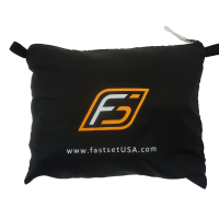 Scrim Carry Pouch with zipper and Fastset logo
