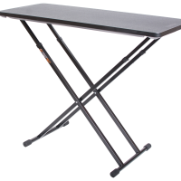 Black fastset musicians Table shown at full height