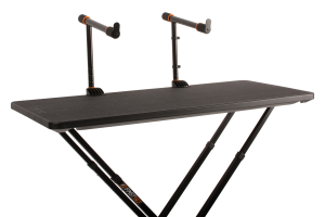 Two-Tier Arms mounted to table with a front view