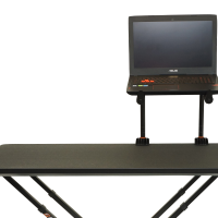 Two Tier Laptop Stand positioned on the right